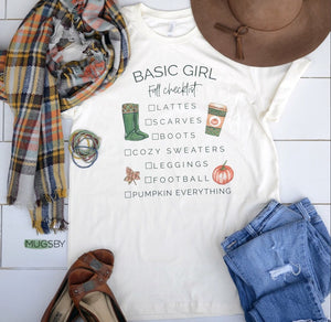 Basic Fall Girl Tee