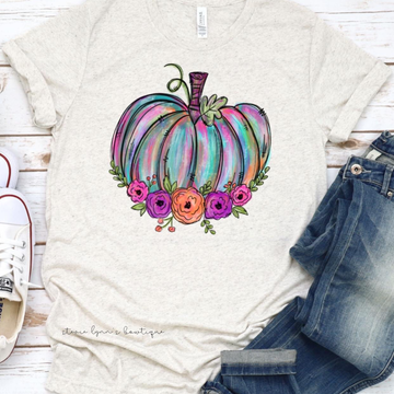 Floral Pumpkin Graphic Tee