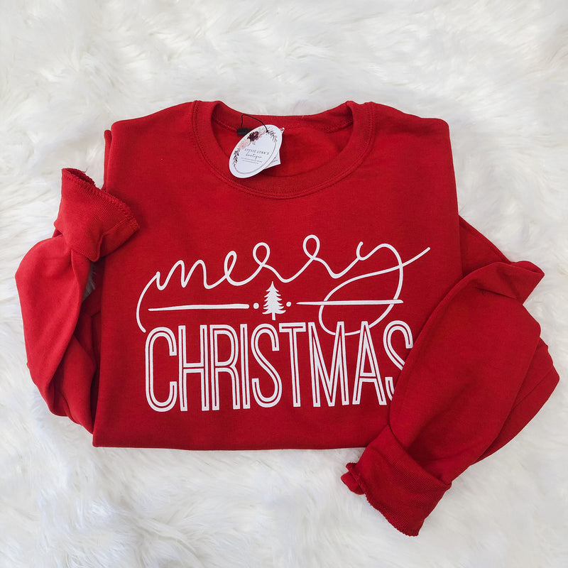 Red Merry Christmas Sweatshirt