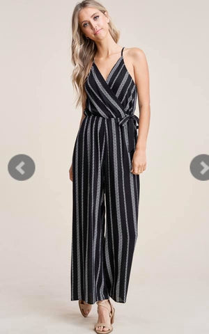 Ashby- Black/Ivory Jumpsuit