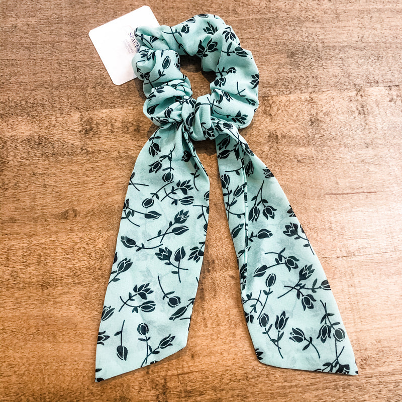 SCRUNCHIE SCARVES- Dusty Teal Vibes