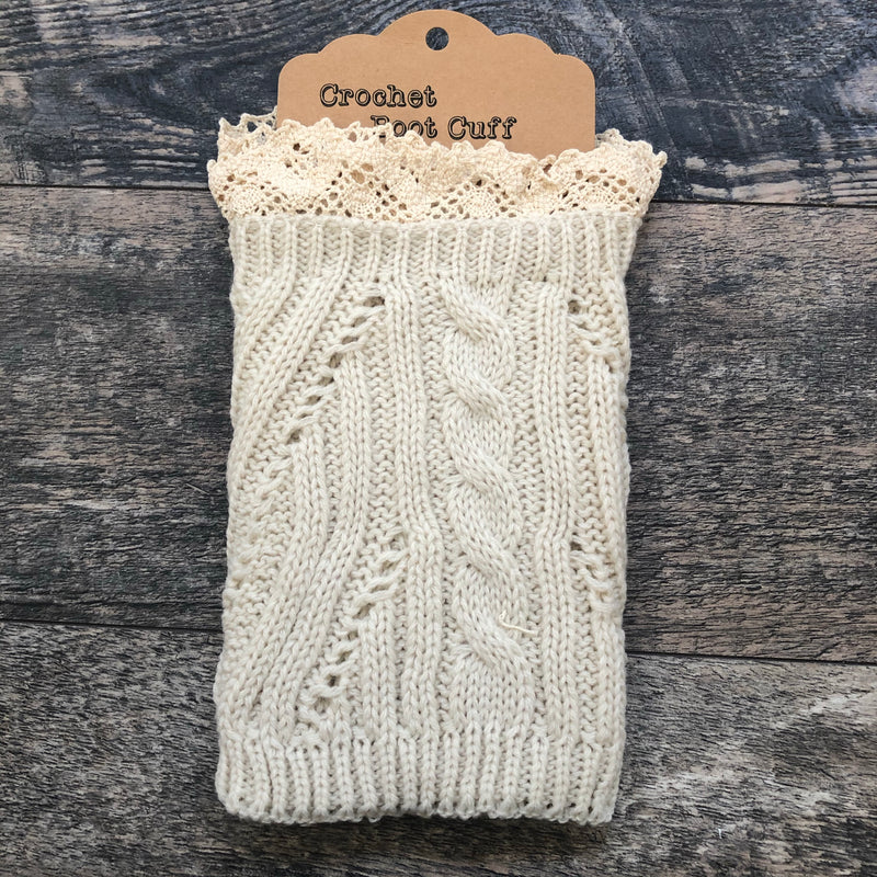 Ivory Crochet Lace Boot Cuff