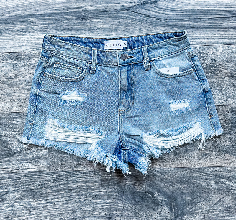 Cello Distressed Denim Shorts
