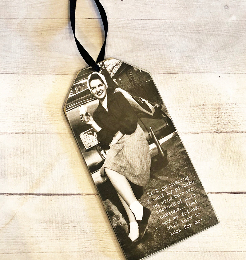 Wine Bottle Tags -Went Missing