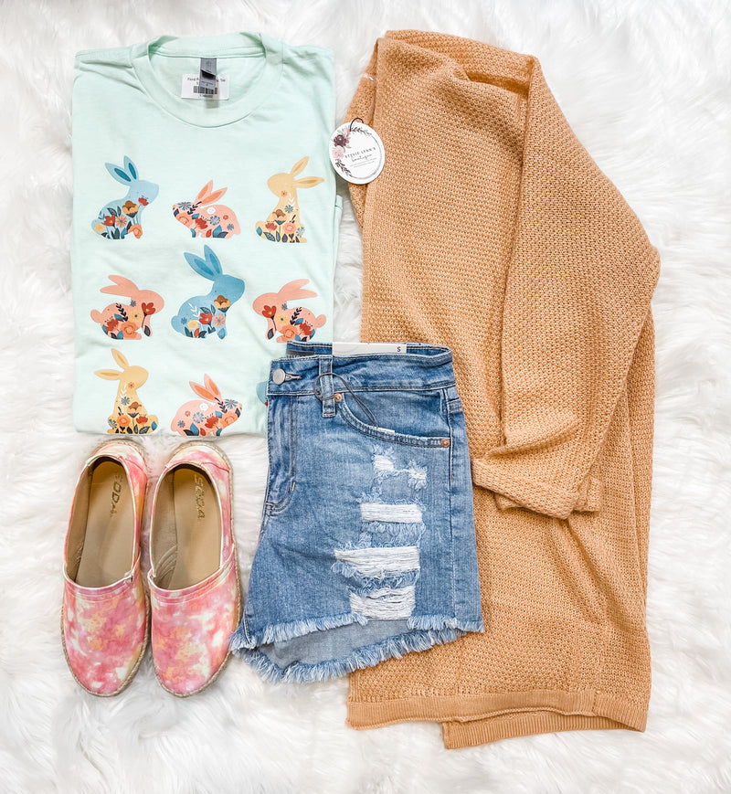 Floral Bunny Graphic Tee
