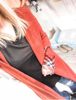 Burgundy Plaid Duster