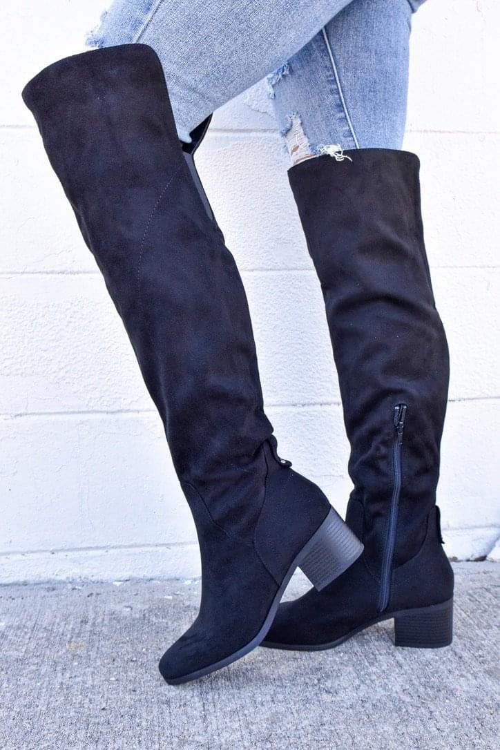 Morton -Tall Black Boots