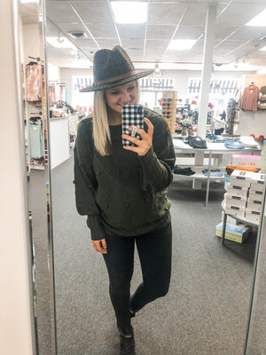 Olive Fall Dot Sweater