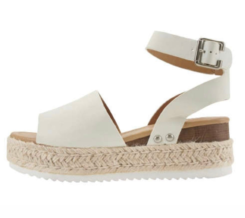 Topic- White Espadrilles Sandals
