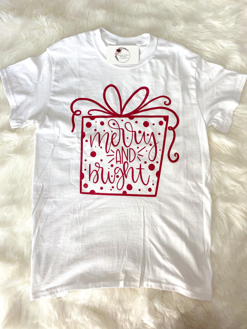 *BFDB* Merry & Bright Graphic Tee