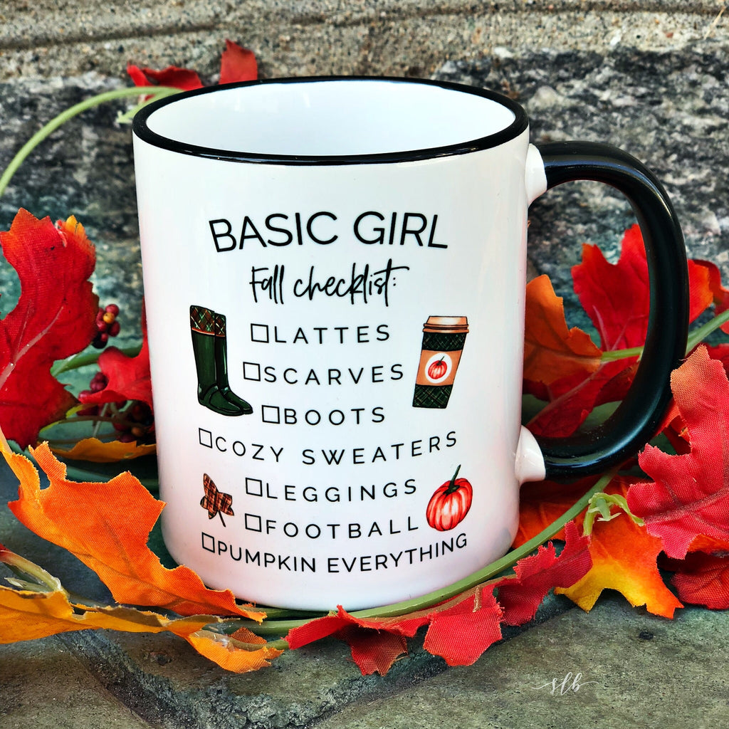 Basic Girl Fall Checklist Coffee Mug