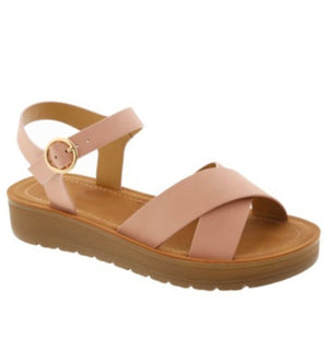 Tara Blush Comfort Platform Wedge