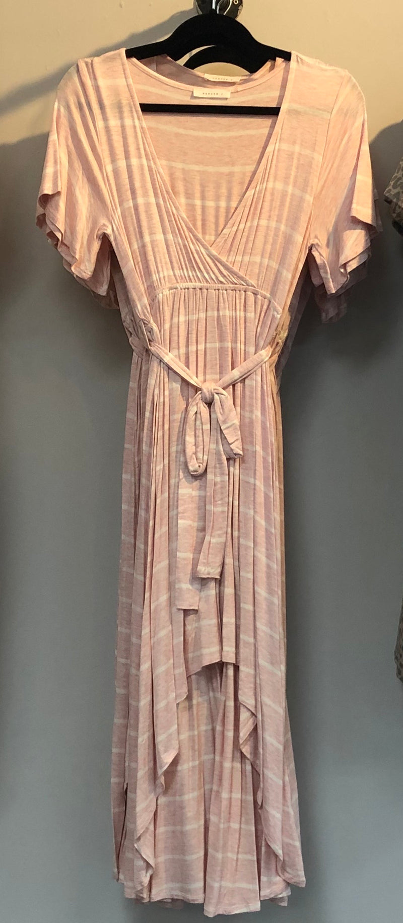 Gabriella Pink Striped Dress