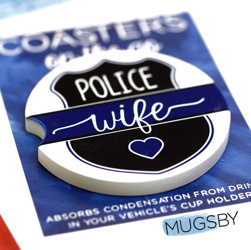Police Wife Car Coaster
