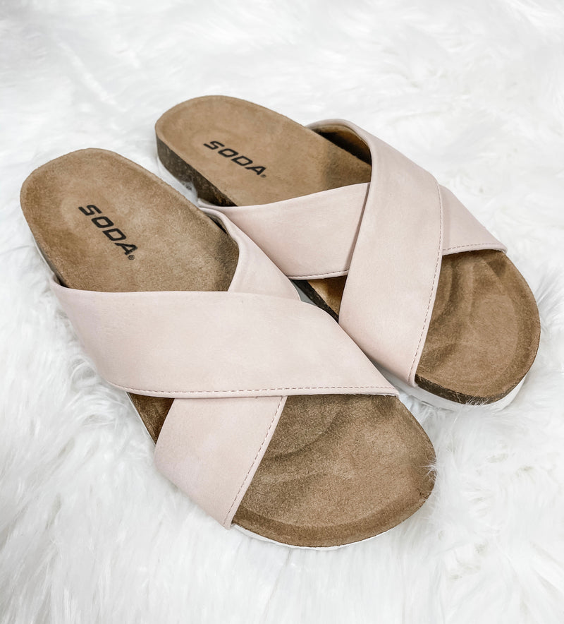 Midge- Blush Sandals