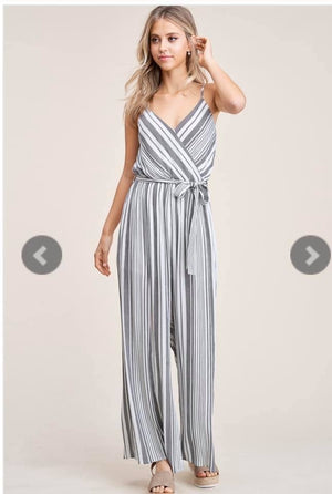 Kendra - Black/White Jumpsuit