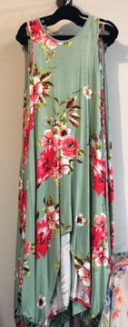 Floral High-Low Maxi