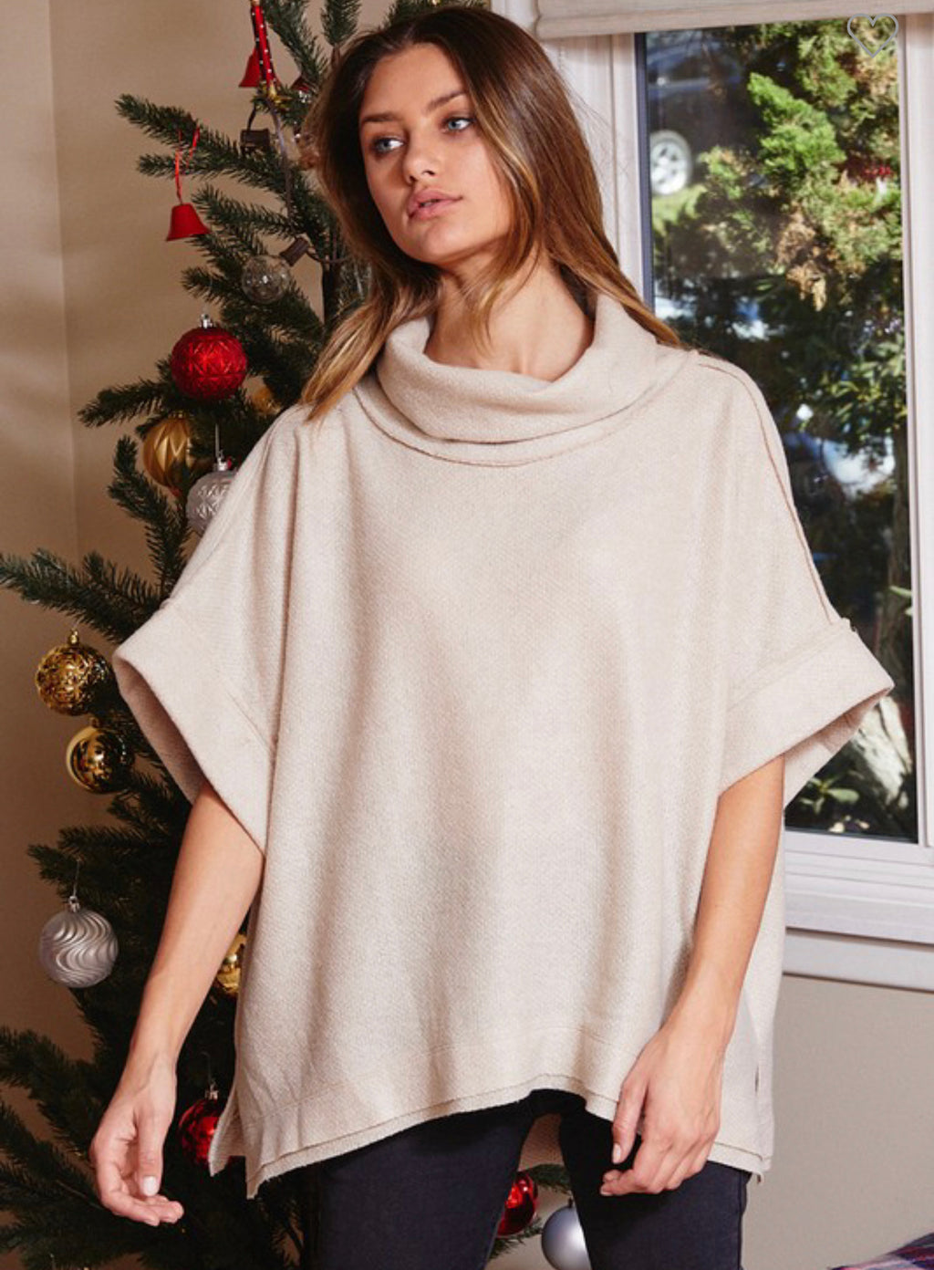 Beige Soft Knit Boxy Top