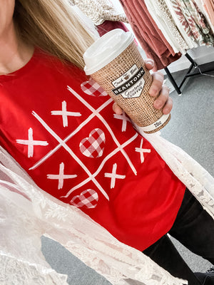 Tic-Tac-Toe Heart Graphic Tee