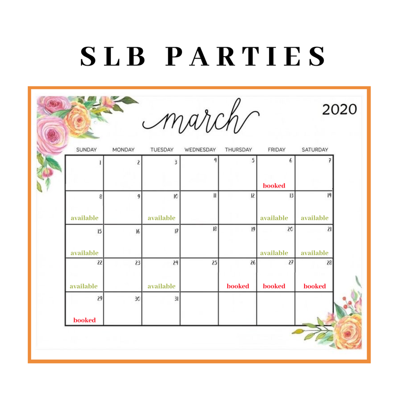 March SLB PARTY HOST Deposit