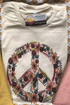 Floral Peace Sign Graphic Tee