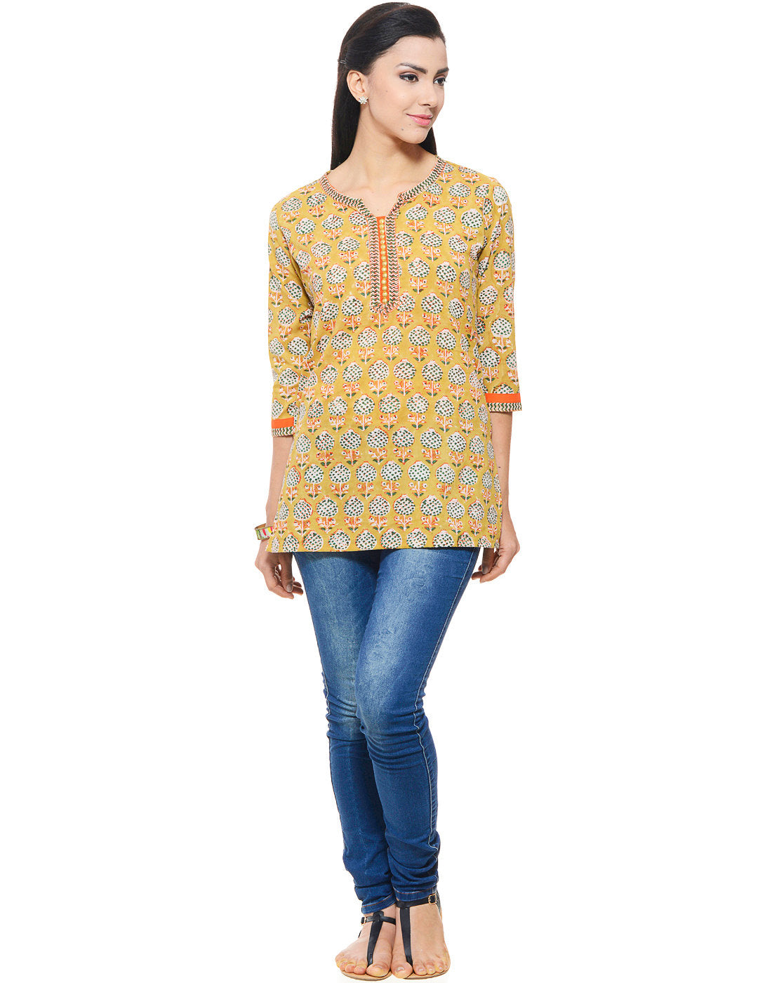 Hand block printed Ethnic Indian Tunic/ Kurti