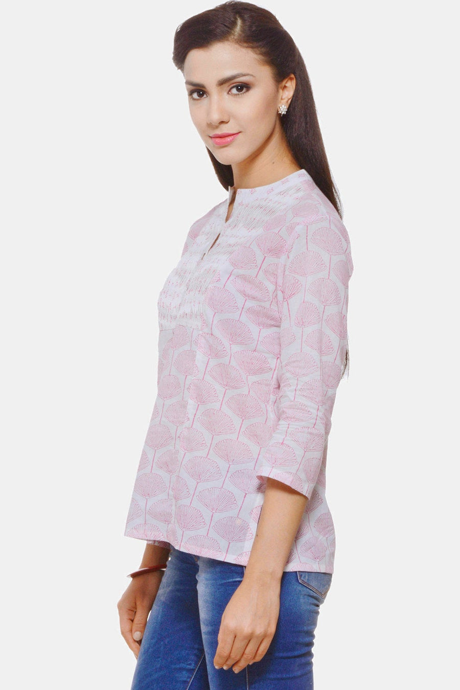 Soft Pink Hand Block Printed Top