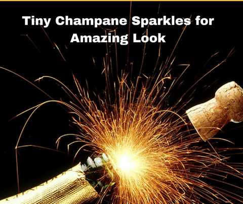 Tiny Sparkles in Champagne