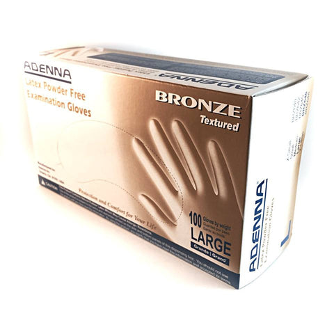 Adenna Bronze Latex Gloves - Salt & Light Tattoo Supply