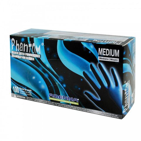 Adenna Phantom Black Latex Gloves Boxes