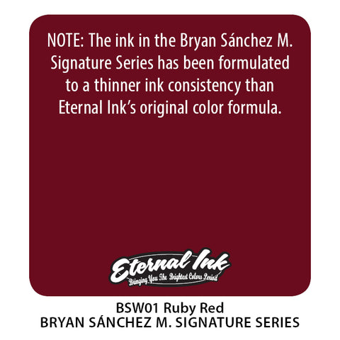 Eternal Ink - Bryan Sanchez M. Watercolor Ruby Red