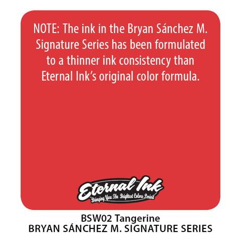 Eternal Ink - Bryan Sanchez M. Watercolor Tangerine