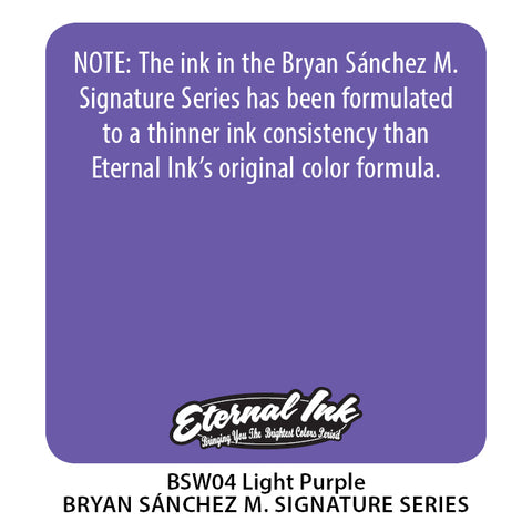 Eternal Ink - Bryan Sanchez M. Watercolor Light Purple