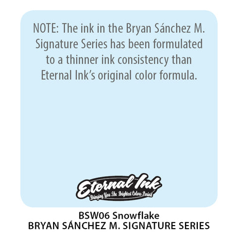 Eternal Ink - Bryan Sanchez M. Watercolor Snowflake