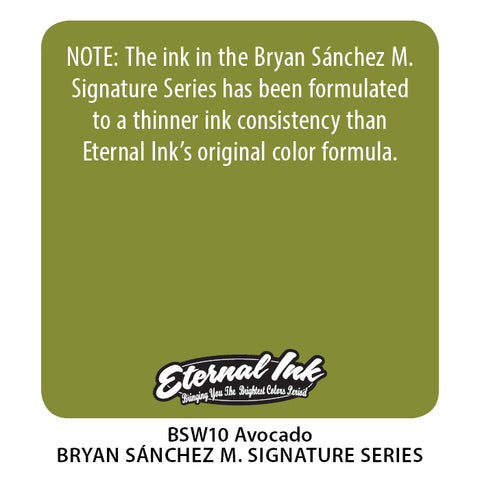 Eternal Ink - Bryan Sanchez M. Watercolor Avocado