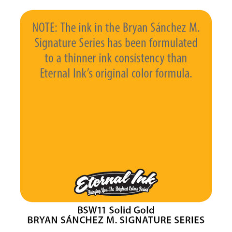 Eternal Ink - Bryan Sanchez M. Watercolor Solid Gold