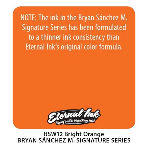 Eternal Ink - Bryan Sanchez M. Watercolor Bright Orange