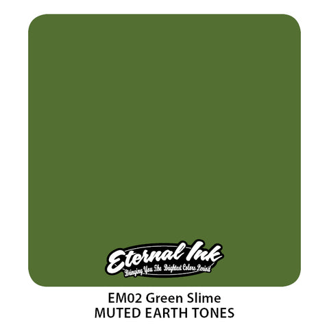 Eternal Ink - Muted Earth Tone Green Slime