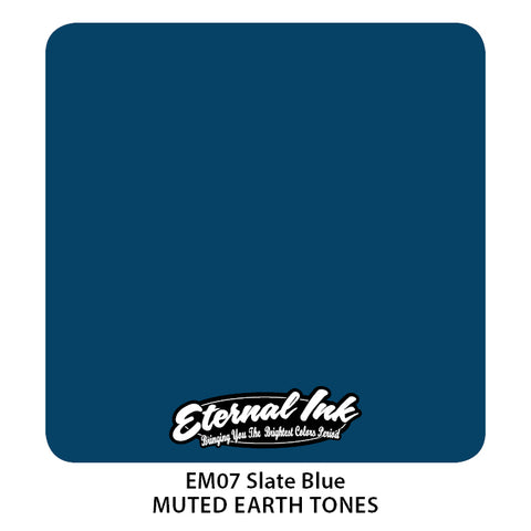 Eternal Ink - Muted Earth Tone Slate Blue
