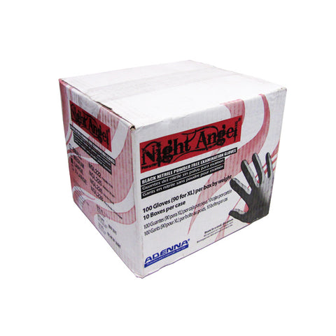 Adenna Night Angel Black Nitrile Gloves Cases