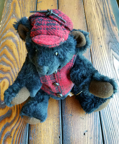 10-inch Artisan Teddy Bear (Vest and Hat)