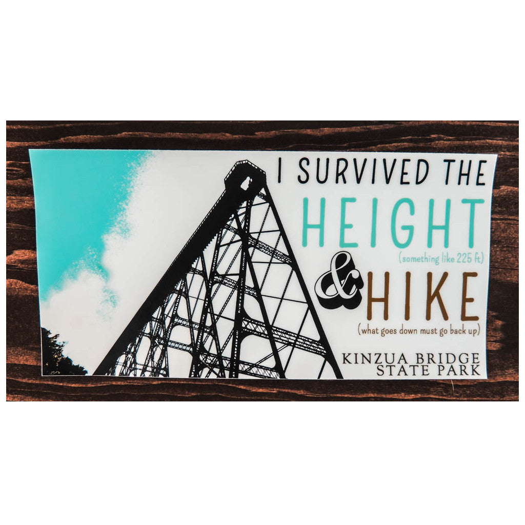 Height and Hike Bumper Sticker