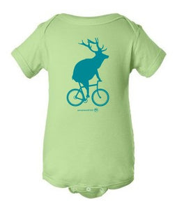Elk on a Bike Onesie