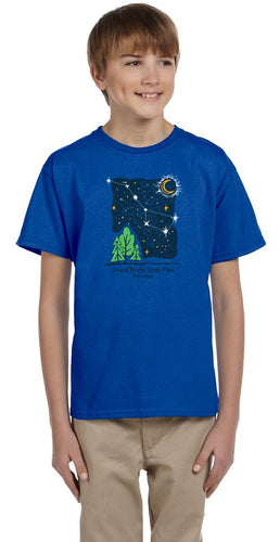 Nite Sky with Trees Youth T-Shirt
