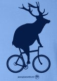 Adult Elk on a Bike T-Shirt