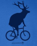 Adult Elk on a Bike Long Sleeve T-Shirt
