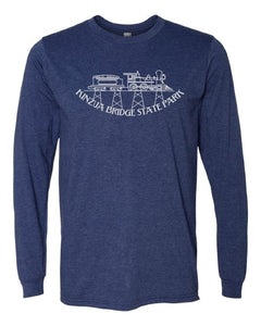 Adult Long Sleeve Kinzua Train T-Shirt