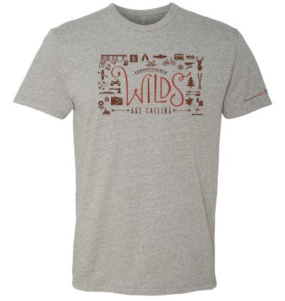 The Wilds Are Calling Adult Short Sleeve Shirt