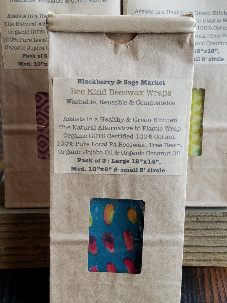 Organic Fabric Beeswax Wraps