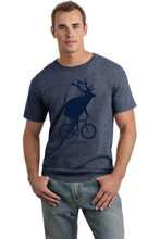 Load image into Gallery viewer, Adult Elk on a Bike T-Shirt